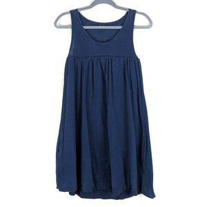 Theory Bubble Hem Dress Burnout Linen Silk Med